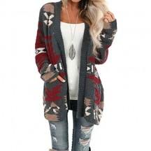 LOSRLY - Cardigan da donna a maniche lunghe casual a maniche lunghe con due tasche laterali stile casual a maniche lunghe