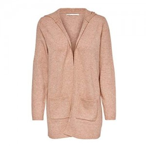 Only Onllesly L/S Hood Cardigan Knt Noos Giacca a Vento Donna