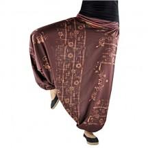 virblatt Pantaloni da donna e da uomo con motivo intrecciato a mano Hippie