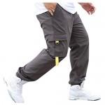 FRAUIT Pantaloni Ragazzo con Tasche Laterali Lavoro Pantaloni Uomo Cargo Taglie Forti Plus Size Over Size Pantalone Uomini Casual Elegante Primaverile