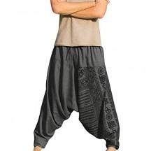 Ginli Uomo Pantaloni da Yoga Sportivi da Allenamento in Stile Etnico Stampati Pantaloni da Fitness Pantaloni da Fitness Leggings da Allenamento