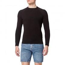 Superdry Essential Cotton Crew Maglia a Maniche Lunghe Uomo