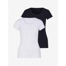 ONLY Maglietta 'LOVE O-NECK' in nero / bianco