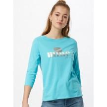 STREET ONE Maglietta 'Mine' in blu chiaro / grigio chiaro / argento