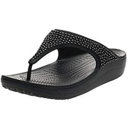 Crocs Tongs Noire Femmes Infradito Donna