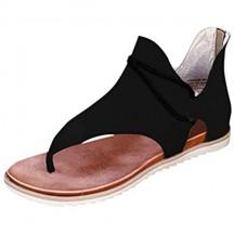 Lulupi Sandali Donna Estate Bassi Bohemian con Zip Scarpe Stringate 2020 Scarpe Infradito Spiaggia Comode
