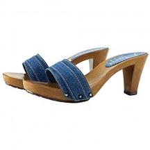 Kiara Shoes Zoccolo Denim Tacco 8 cm - Consegna in 24/48 Ore lavorative - 72 Ore Isole e cap remoti (Italia) K5101-DENIM