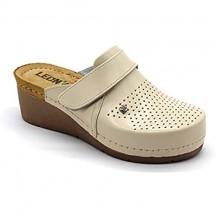 Leon 1001 Zoccoli Sabot Pantofole Scarpe Pelle Donna Beige EU 41