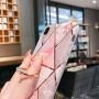 Uposao Custodia Compatibile con Huawei P20 [Ring Holder] Marmo Modello Geometric Design Morbida TPU Custodia Ultra Sottile Glitter Case Kickstand Caso con Diamante Gomma Gel Backcover Rose Gold