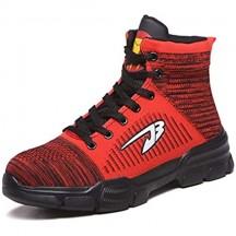 Scarpe Antinfortunistiche Uomo Donna con Punta in Acciaio Unisex Leggere Traspiranti Scarpe Sportive di Sicurezza Sneaker Estive