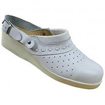 Scarpe di Sicurezza Jallatte SBEA SRC lavorano Scarpe Cuoco Scarpe col Tacco Lavoro Sandalo Bianco B-Stock