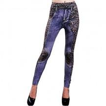 Inception Pro Infinite Leggings da Donna - Tipo Jeans - Leopardo - Stampa - Taglia Unica -